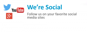 Follow us on your favorite social media sites